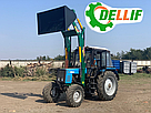 Погрузчик фронтальный на трактор МТЗ, ЮМЗ, Т 40 Dellif Light 1200 с джойстиком, фото 3