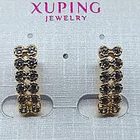 Ювелирная бижутерия серьги Xuping покрытые золотом 18К