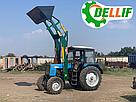 Погрузчик на трактор  МТЗ, ЮМЗ, Т 40 Dellif Ligh 1200 с захватом для тюков, фото 4