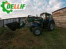 Погрузчик на трактор  МТЗ, ЮМЗ, Т 40 Dellif Ligh 1200 с захватом для тюков, фото 6