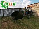Погрузчик МТЗ КУН Dellif Light 1200 стационарный с сенажными вилами со съемным зубом, фото 4