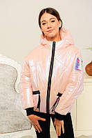 Демисезонная куртка для девочки «Селена», пудра ТМ MANIFIK