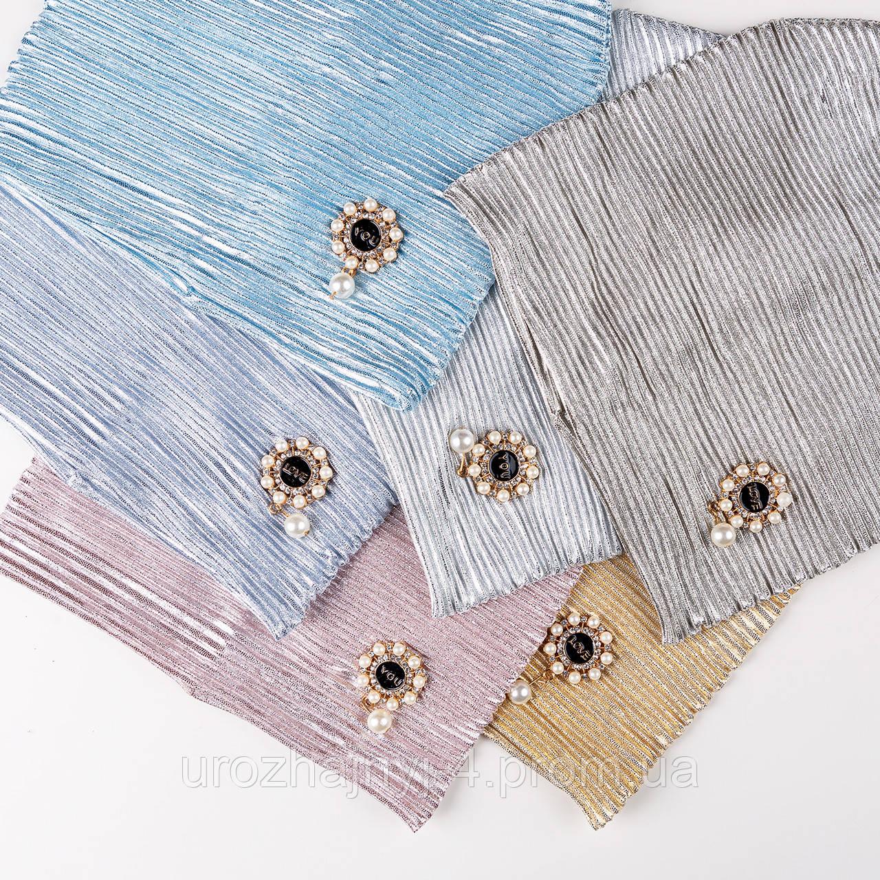 Трикотажная шапка для девочки подкладка х/б р48-50 5шт упаковка