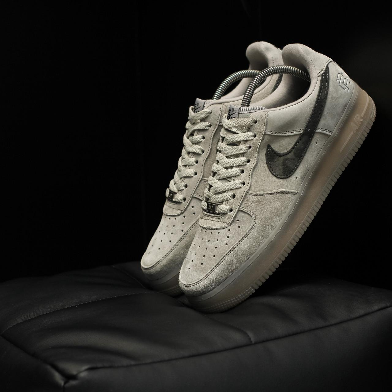 Мужские кроссовки Nike Air Force Dark Grey, Реплика