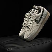 Мужские кроссовки Nike Air Force Dark Grey, Реплика, фото 1