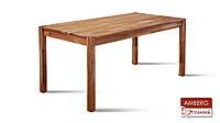 Стіл столовий Амберг 80х120х2 - Зрощений Дубовий щит під Лаком