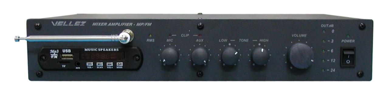 Усилитель-микшер 80ПП024М-FM/МР