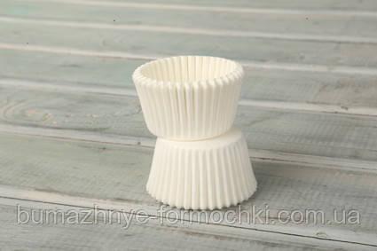 Белые бумажные формы для выпекания, 30х24 мм