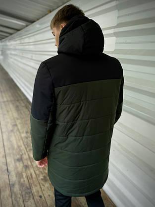 """Куртка осенняя мужская """"Fusion"""" бренда Intruder Демисезонная весенняя (хаки - черная), фото 3"""