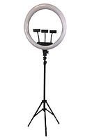 Кольцевая селфи лампа 45 см для макияжа на штативе LED Lamp M-45 / 55W, фото 1