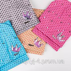 Трикотажный комплект шапка и хомут для девочки подкладка х/б р50-52 5шт упаковка