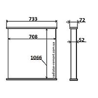Соты радиатора MAN F2000 (94-) /TRAVEGO (99-)