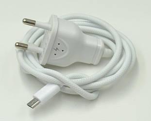 Сетевое зарядное устройство зарядка SERTEC 1A с кабелем micro-usb, white