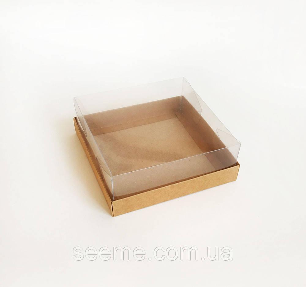 Коробка з пластиковою кришкою 150х150х50 мм.