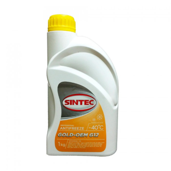Антифриз SINTEC GOLD G12, (-40), 1л, жовтий