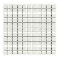 Мозаика прозрачная стеклянная «Aquaviva Сristall белая» DCM308