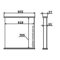 Соты радиатора MAN L 2000 (93-) /M 2000 (95-)
