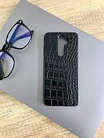 Чехол для Xiaomi Redmi Note 8 Pro под кожу крокодила, Black