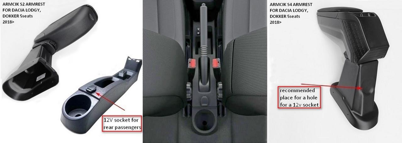 Подлокотник Armcik S2 со сдвижной крышкой и регулируемым наклоном для Dacia Lodgy, Dokker 2018> (Euro 6), фото 2