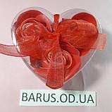 Сувенирное подарочное  мыло из лепестков  роз  9 штук  разных цветов 11,5*11,5*4 см, фото 2