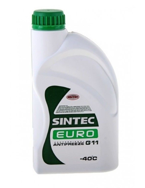 Антифриз SINTEC EURO G11, (-40), 3л, зел.
