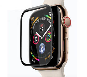 Защитное стекло для Apple Watch 3D Full Glue 44mm (тех.пак)