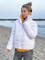 Курточка женская весенняя чёрная, красная, горчица, белая, беж белый, 44-46