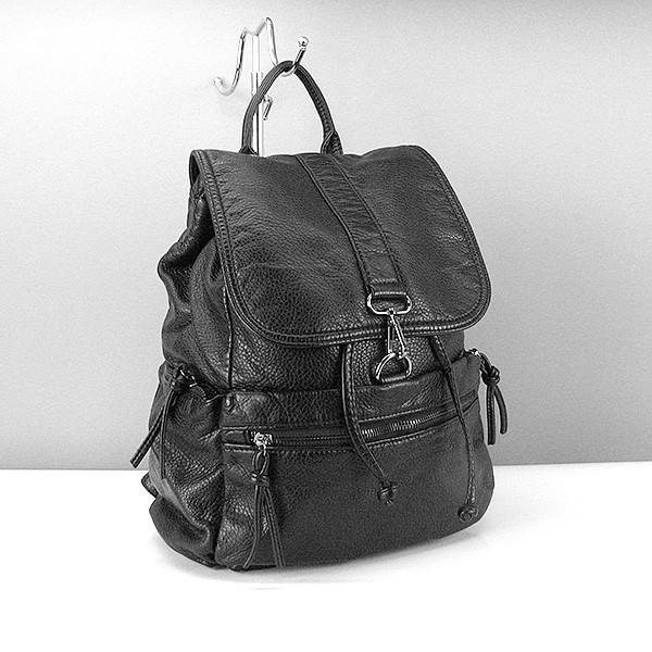 Рюкзак кожзам женский черный Farfalla Rosso 6434