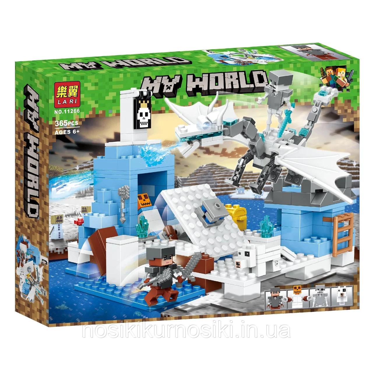"""Конструктор Bela 11266 """"Сражение с ледяным драконом"""" Майнкрафт, Minecraft, 365 деталей"""
