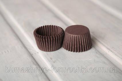 Бумажные одноразовые коричневые капсулы, 30х24 мм