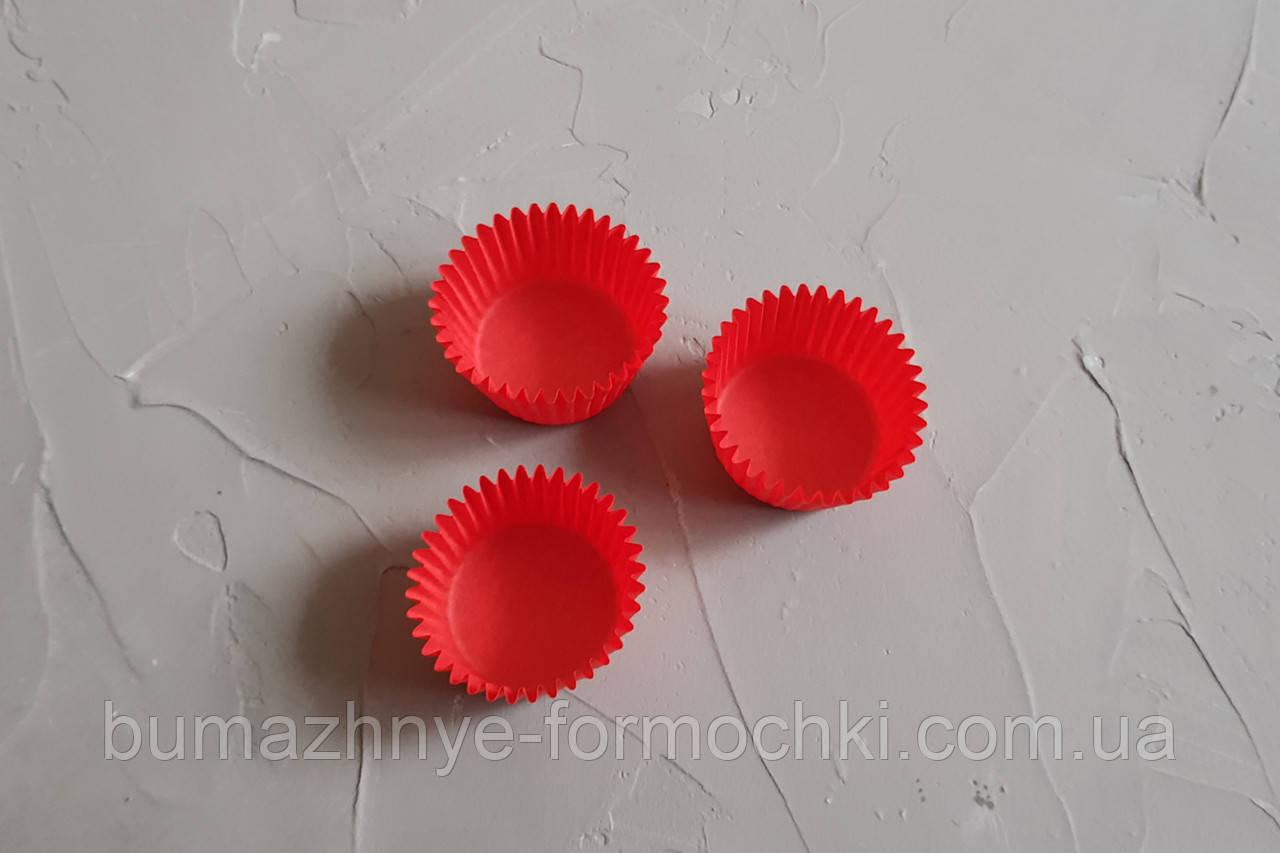 Бумажные одноразовые красные капсулы, 30х24 мм
