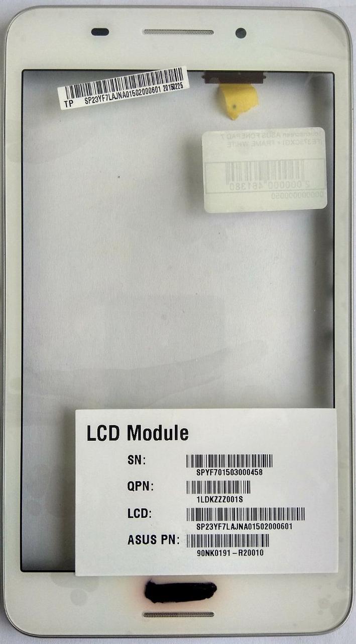Сенсор (тачскрін) для Asus Fonepad 7(FE375CXG) з рамкою білий