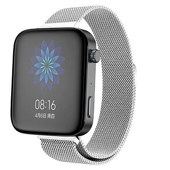 Миланский сетчатый ремешок Primolux для часов Xiaomi Mi Watch - Silver