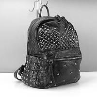 Рюкзак кожзам женский черный Farfalla Rosso 15020, фото 1