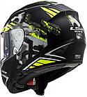 Мотошлем LS2 FF397 VECTOR EVO STENCIL matt black h-v yellow, фото 9