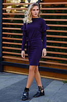 """Женское стильное короткое платье """"Ангора Рукава Рюши"""" в расцветках."""
