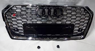 Решетка радиатора Audi A5 F5 (2016+) стиль RS5 (хром рамка)