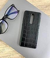 Чехол для Xiaomi Mi 9T Pro под кожу крокодила, Black