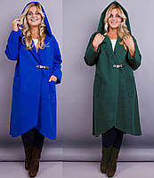 Пальто женское весеннее, большого размера 62-64р