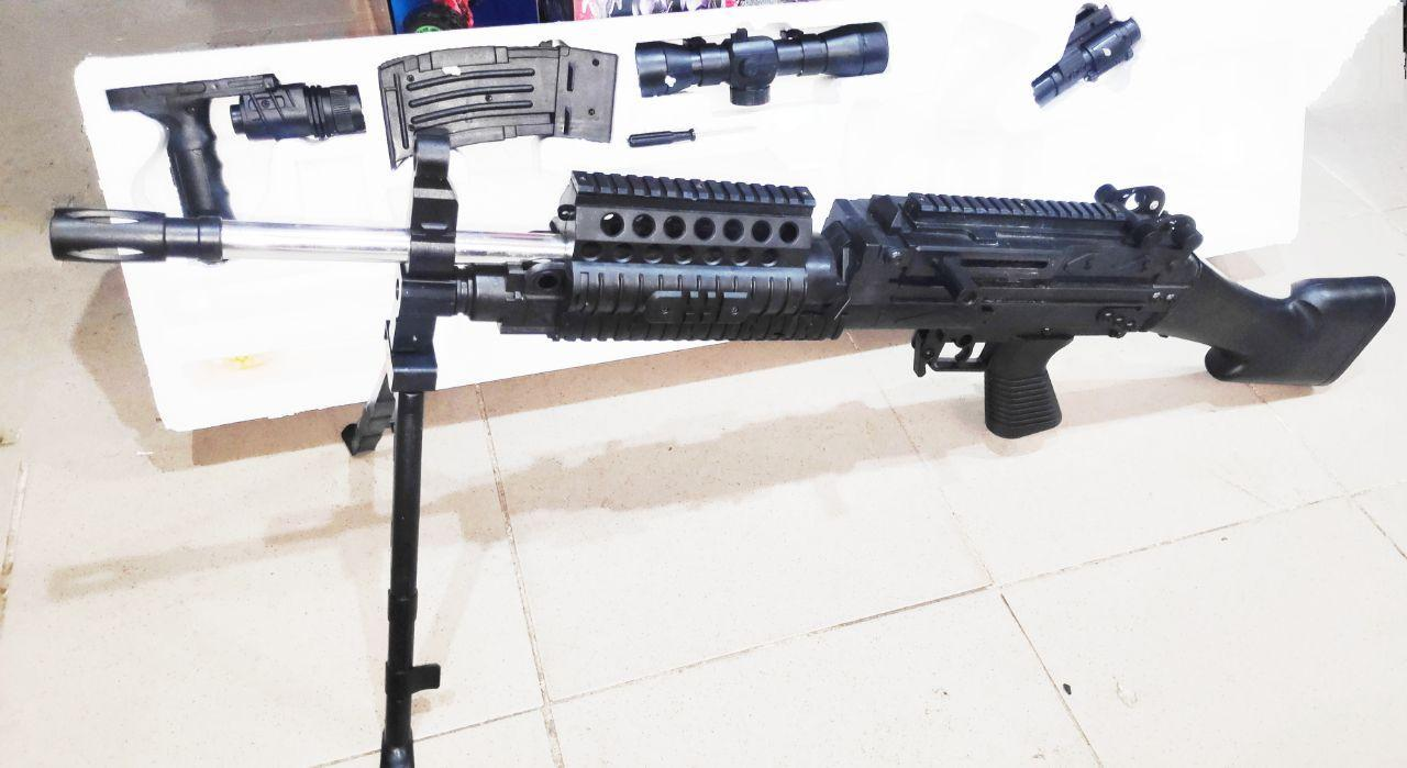 Пулемет МК48 (Mark 48) на пластиковых шариках с лазером и прицелом 93.5 см