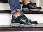 Мужские кроссовки Columbia Montrail (серо-черные с синим), фото 4