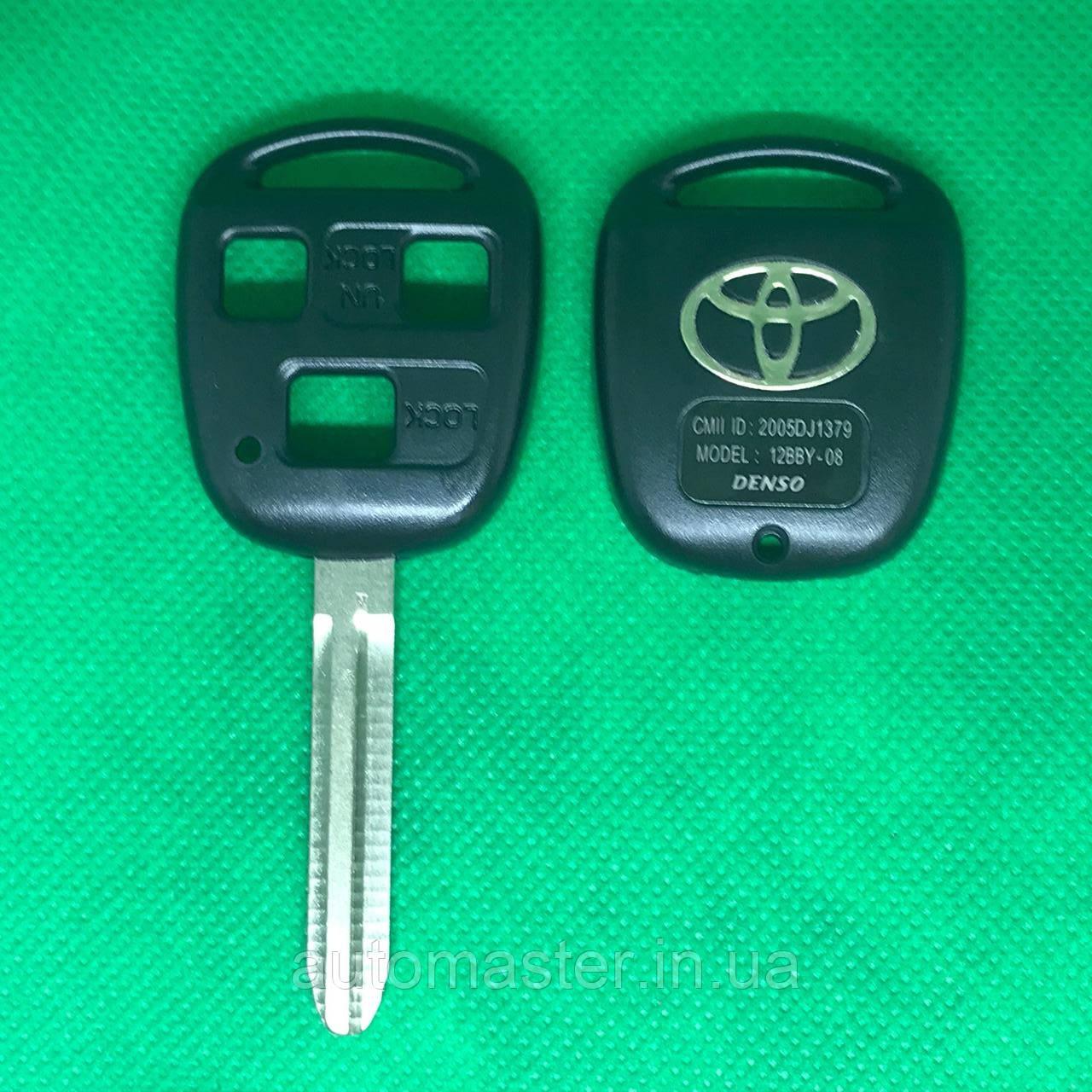 Корпус авто ключа для TOYOTA Camry (Тойота Камри) 3 кнопки , лезвие TOY 43