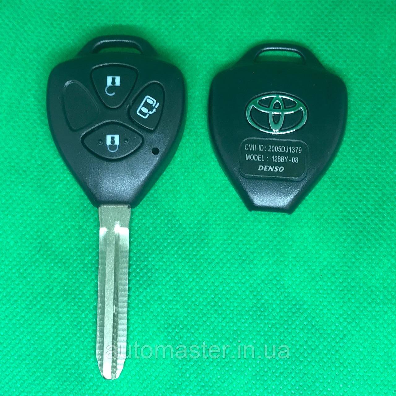 Корпус автоключа для Toyota RAV4, Corolla (Тойота РАВ4, Королла ) 3 кнопки, лезвие TOY43