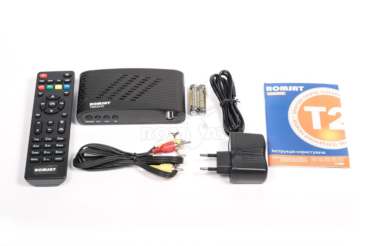 Тюнер DVB-T2 Romsat T8005HDс wifi