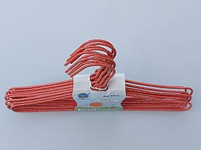 Плечики детские  проволока в порошковой покраске красного  цвета, длина 29 см, в упаковке 10 штук, фото 2