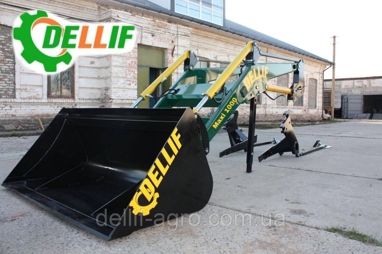 Погрузчик на трактор МТЗ, ЮМЗ, Т 40 Dellif Maxi 1000 с ковшом 2 м