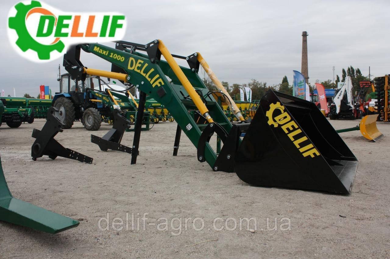Фронтальный Погрузчик на трактор МТЗ,ЮМЗ, Т 40 КУН Dellif Maxi 1000 с ковшом 1.8 м