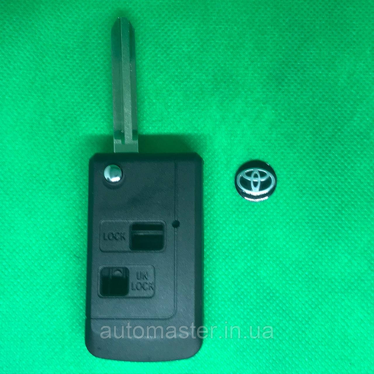 Корпус автоключа TOYOTA Prado, Corolla, Rav 4 (Тойота Прадо, Корола, Рав 4) 2 - кнопки, лезо TOY43