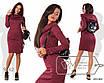 Платье с капюшоном облегающее с карманами ангора софт 42,44,46,48,50,52,54, фото 4