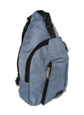 Сумка мужская через плечо удобная барсетка спортивный рюкзак городской косуха цвет джинс Польша